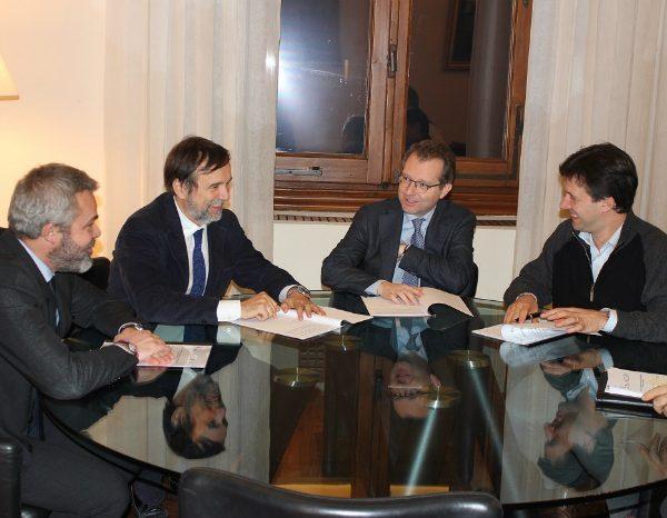 Tombari Presidente Ente CRF, Sindaco Nardella e Leonardo Bassilichi pres camera di COmmercio