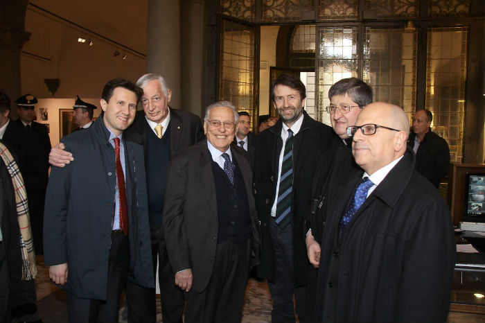Sindaco Nardella, prof. Ceccuti SPadolini Nuova Antologia; Vice Pres Ente CRF prof. Rossi Ferrini:Ministro Franceschini; Cardinale Betori