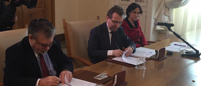 Umberto Tombari presidente Ente CRF e Joseph Weiler presidente EUI