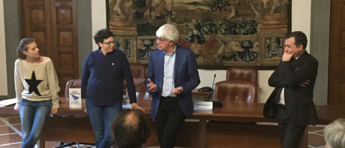 Beppe Severgnini con Gabriele Gori Direttore generale Ente CRF