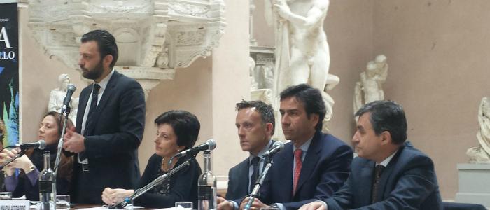 cristina giachi vica sindaco firenze; toccafondi segretario miur; preside Istituto Statale d'arte; Rappresentante di Sky; Sarro Nexo; Gabriele Gori DG Ente CRF