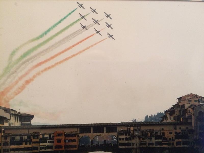 Le Frecce Tricolori nel cielo di Firenze