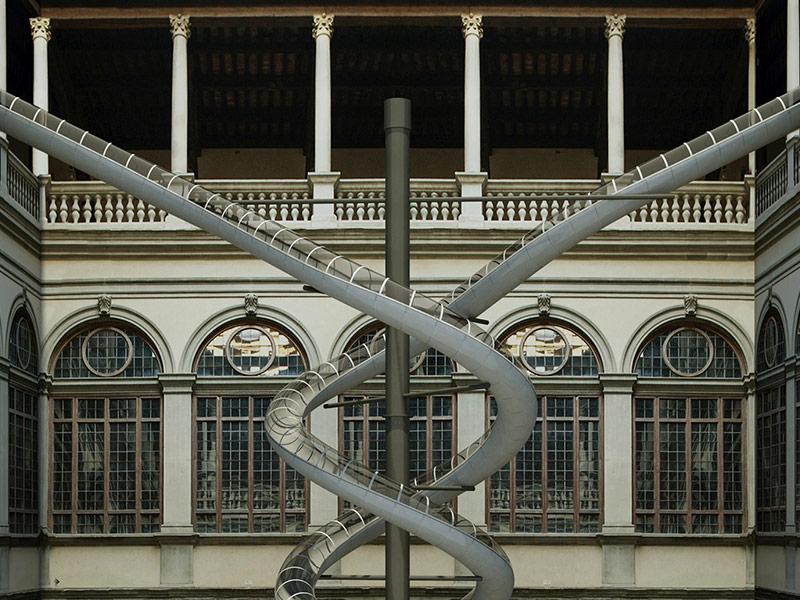 Lo 'scivolo' di Holler e Mancuso a Palazzo Strozzi