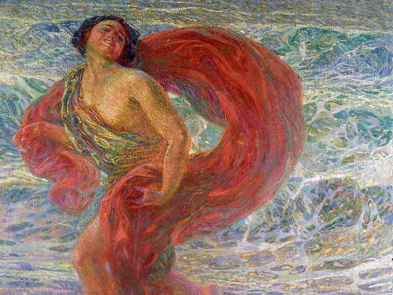 In mostra riunito il dipinto 'Gioia' su Isadora Duncan