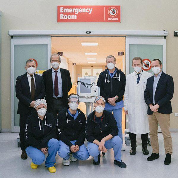 ventilatori polmonari al pronto soccorso del Santa Maria Nuova