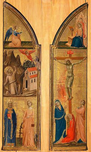 Annunciazione, Crocifissione; Stigmate di san Francesco