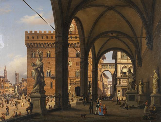 Veduta di piazza della Signoria dalla Loggia dei Lanzi